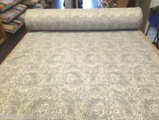 BEAUTIFUL QUALITY LINEN FEEL DESIGNER CHIC GREY PAISLEY CURTAIN UHOLSTERY FABRIC