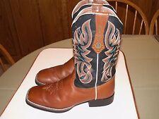 Women's Tony Lama Western Cowboy Boots Size 11 Square Toe #RR2116L Stitched 3R