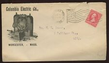 USA Mass Worcester Columbia Electric ILLUS 1896 cover
