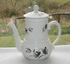 Vintage Retro Coffee Pot Made in France Black Tulips