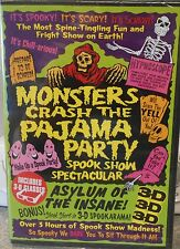 Monsters Crash the Pajama Party (DVD, 2001, 2 free pairs of 3-D glasses!) NEW
