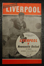 LIVERPOOL V NEWCASTLE UNITED   16/10/1965 - LEAGUE CHAMPIONS
