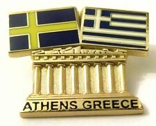 Pin Spilla Olimpiadi Athens 2004 Greece/Sweden Flags