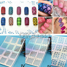 DIY NEW Design 12Tips/Sheet Nail Vinyls Nail Art Manicure Stencil Stickers Stamp