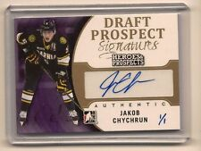 JAKOB CHYCHRUN 2015-16 LEAF ITG HEROES & PROSPECTS DRAFT PROSPECTS AUTO 1/1
