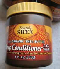 Simply Shea Deep Conditioner & Co- Wash 6 fl oz Organic Butter Moisturize Hair