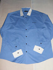 Size 4XL' Polyester & Cotton Blue 'Pierre Cardin' Long Sleeved Shirt' N/N/Tags'
