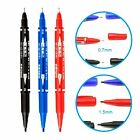 TATTOO Skin Marking Pen - Double Ended Marker Fine & Thick Tip - Black/Blue/Red