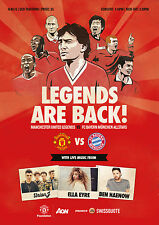MAN UTD LEGENDS v BAYERN MUNICH ALL STARS 2014/15 MINT PROGRAMME 2015 MANCHESTER