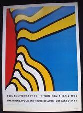 Nicholas Krushenick - Minneapolis Institute Of Arts 1966 Poster - Pop Art