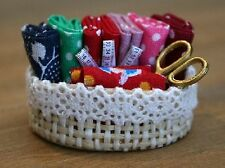 Dolls House Miniature 1/12th Scale Needlework Basket