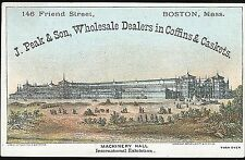 Trade Card - Dealers in Coffins & Caskets Machinery Hall Centenial Exhibition