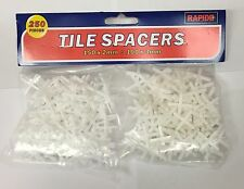 TILE SPACERS 150 x 2mm & 100 x 3mm TILING CERAMIC TILERS PLUMBERS BRAND NEW