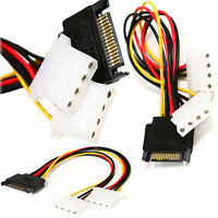 15CM SATA Male HDD Power to Dual 4 Pin IDE Y Splitter Female Molex Adapter Cable