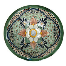 "#001) ROUND 14"" MEXICAN BATHROOM CERAMIC SINK DROP IN MEXICO BASIN SINKS"