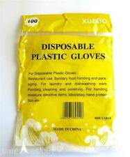 100x Large Disposable Sanitary Germproof Food Safety BBQ Cook Kitchen Pure Glove