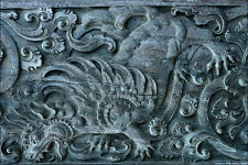 753088 Wall Carving Bali Temple Indonesia A4 Photo Texture Print