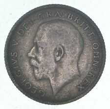 SILVER - 1922 Great Britain 6 Pence - World Silver Coin *0644
