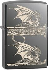 Zippo 2015 2016 Choice Catalog Dragon Side Print Black Ice Lighter 28961 NEW