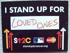 NY Mets 2015 Citi Field 1st WORLD SERIES SU2C I Stand Up For Cancer LOVED ONES