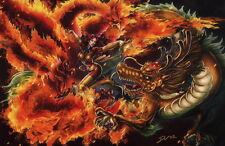 Daxiong Guo Jingxiong SIGNED Dragon Comic Art Print ~ X-Men PHOENIX