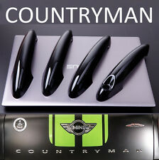 Set (4x) GLOSS BLACK Door Handle Cover Trims MINI R60 COUNTRYMAN Cooper One JCW