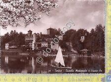 Cartolina - Postcard  - Torino -  Castello  Medioevale - Po  - anni '50
