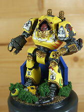 FORGEWORLD SPACE MARINES IMPERIAL FISTS CONTEMPTOR DREADNOUGHT PAINTED (L)