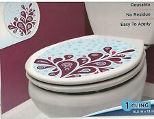TOILET BOWL SEAT DECORATION  Branch  cling bathroom lid decal sticker peel/stick