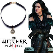 The Witcher 3 Yennefer Wild Hunt Medallion Amulet Choker Necklace Cosplay