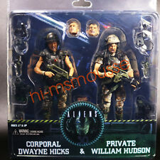 """NECA Aliens Colonial Marines Hicks & Hudson 2 Pack 7"""" Action Figure 30th New"""