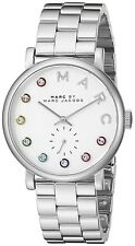 New Marc Jacobs Women's Baker Dexter Silver Tone Stainless Crystal Watch MBM3420