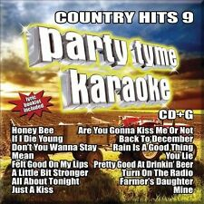 Party Tyme Karaoke - Country Hits 9 by Karaoke (CD, Aug-2011, Sybersound Records