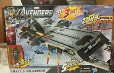 Marvel Universe Avengers S.H.I.E.L.D Helicarrier Playset MIB Captain America fig