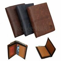 MENS LUXURY SOFT BUSINESS LEATHER BIFOLD WALLET CREDIT CARD HOLDER PURSE GIFT UK