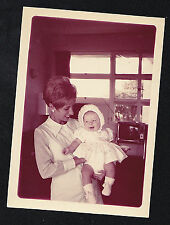 Old Vintage Photograph Mom - Adorable Baby - Puffy Hairdoo - Retro Television TV