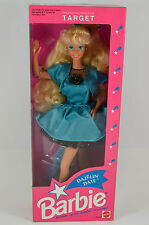 NIB-1992-DAZZLIN' DATE BARBIE DOLL-TARGET SPECIAL EDITION-BLUE/BLACK SATIN DRESS
