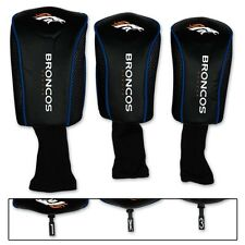 DENVER BRONCOS THREE-PACK LONG NECK GOLF HEAD COVERS NEW FREE SHIPPING WINCRAFT