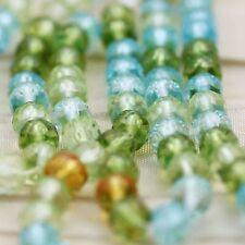 100pcs 5mm SPRING WATER MIX FACETED GEM CUT CZECH  Beads
