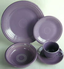 Fiestaware LILAC PURPLE 5-pc Place Setting 1990's Retired Plates Bowl Cup Saucer