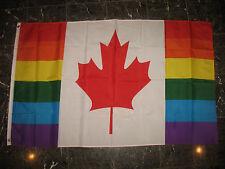 3x5 Canada Gay Rainbow Flag 3'x5' Canadian Lesbian LGBT Pride house banner