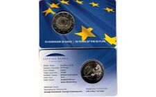 NEW!!! Latvian 2 euro commemorative coin 30 Years of the EU Flag (2015) LV