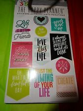 "CREATE 365 HAPPY PLANNER 5 Sheet STICKERS PK  ""LOVE THIS LIFE"" Inspirational"