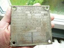 PLAQUE  SNCF TRAIN RAIL SIMOTRA LOCOMOTIVE