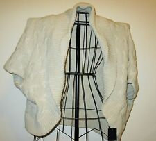 Beige Cable Knit Shrug Cardigan Top Blouse by MS Accessories Size XL Nice #X289