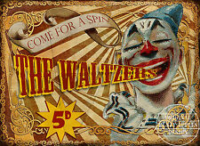 THE WALTZERS VINTAGE STYLE FUNFAIR CIRCUS METAL SIGN MANCAVE HIS/HERS GIFT