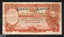 Australia R-11. (1936) Ten Shillings - Riddle/Sheehan.. Geo V Portrait.. Fine