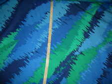 "Abstract silk fabric splash print blue & green woven material 45""w x by the yard"