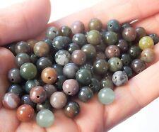 Lote de 100 tonos marrón con verde Ágata Natural Piedras Preciosas Perlas, 8mm