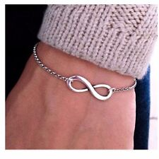 New Fashion Jewellery silver Plated Infinity 8 Bracelet